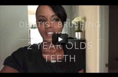 How to brush a two year old's teeth